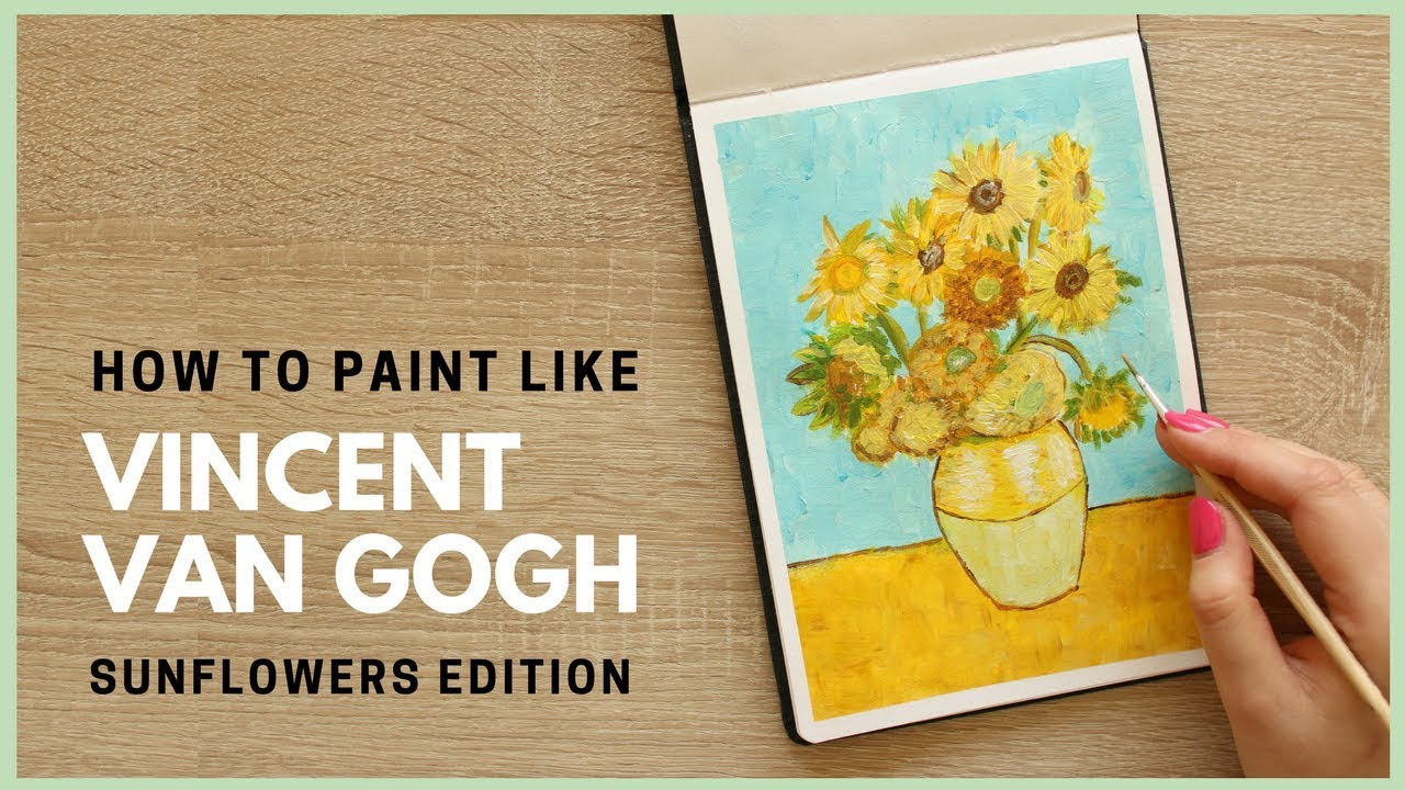 How To Paint Sunflowers By Vincent Van Gogh With Acrylic Paint Art Journal Thursday Ep 36 Youtube