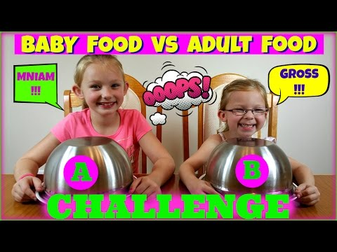 BABY FOOD vs ADULT FOOD CHALLENGE - Magic Box Toys Collector