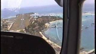 Take off Barbados Landing Mustique Take off Mustique and landing Union Island cockpit view