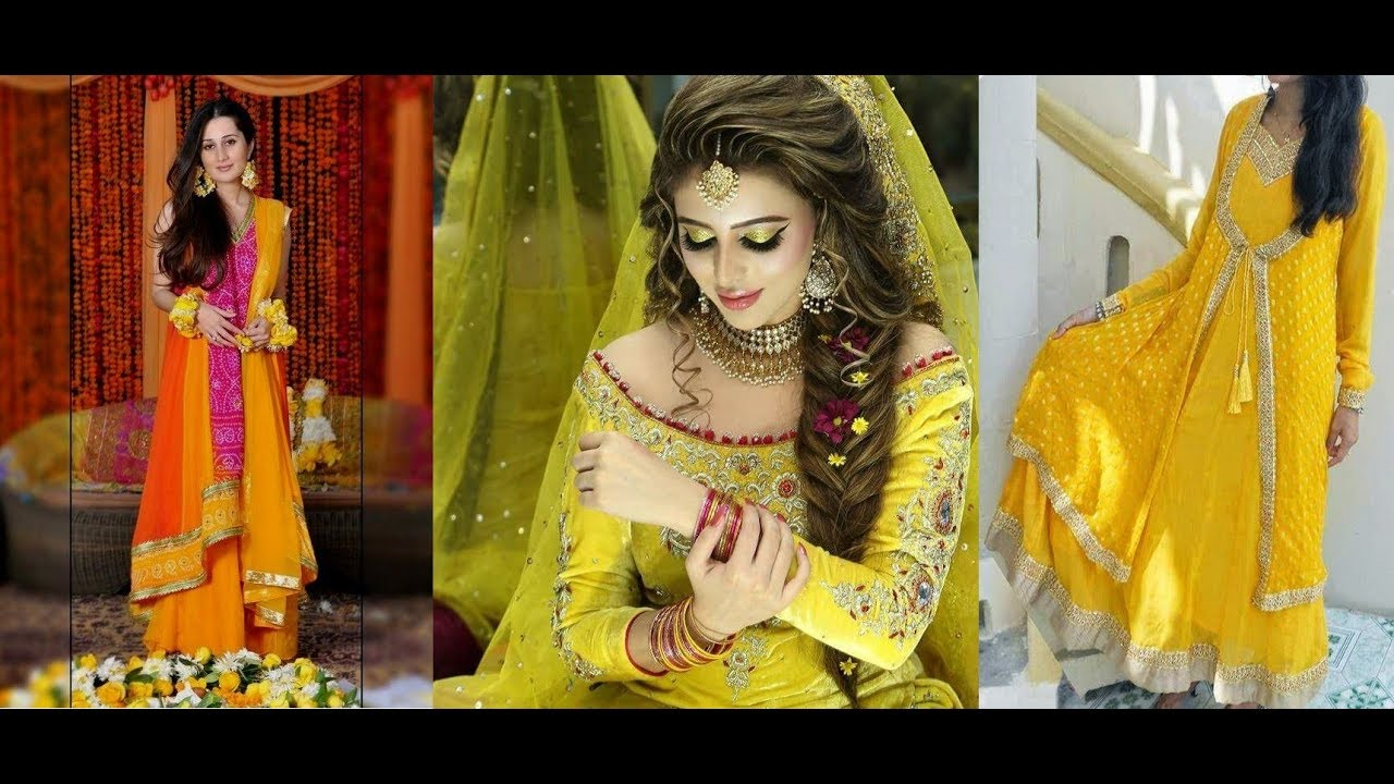 Pakistani Mehndi Dresses