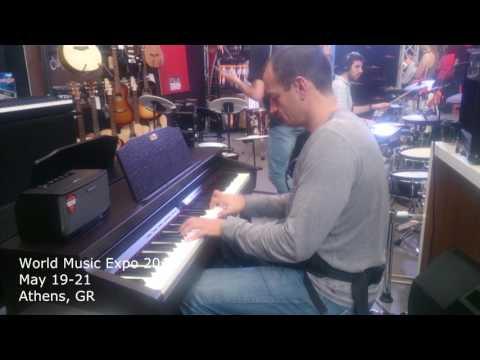 Testing Digital Pianos at World Music Expo 2017 - May 19-21 - Athens, GR