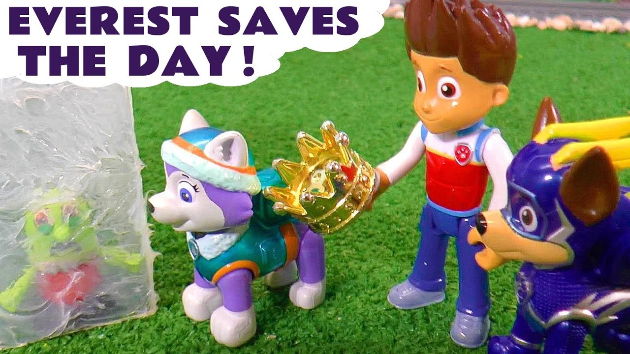 Mighty Pups Everest Saves the Day Rescue with the Paw Patrol Charged Up Pups and the Funny Funlings