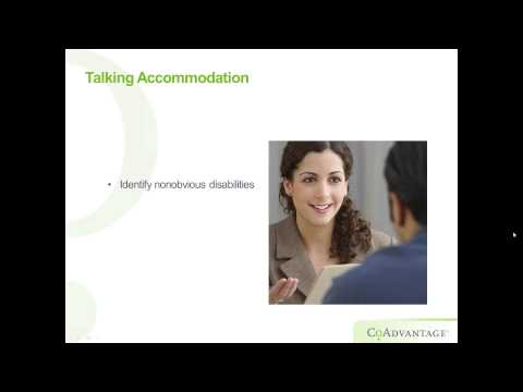 How to  Accommodate Employees with Disabilities - CoAdvantage Webinar