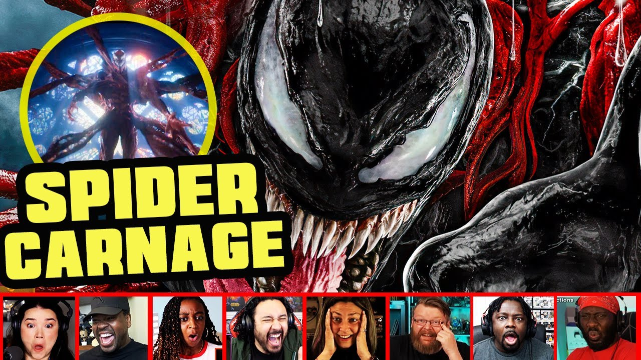 Reactors Reaction To Venom Going Up Against Carnage On Venom Let There Be Carnage   Mixed Reactions