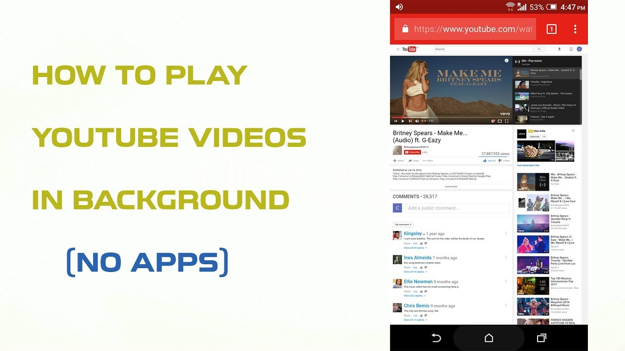 6 Ways To Play YouTube In Background On Android | KeepTheTech