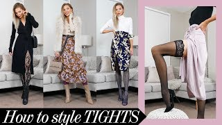 How To Style: Tights For Autumn + HAUL & TRY ON