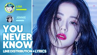 BLACKPINK - You Never Know (Line Distribution + Lyrics Color Coded) PATREON REQUESTED