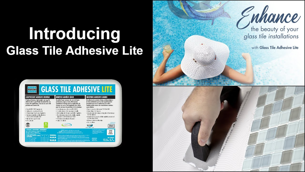 new product announcement glass tile adhesive lite
