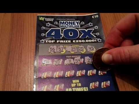 Money multiplier 40x ticket, Irish National Lottery -#290