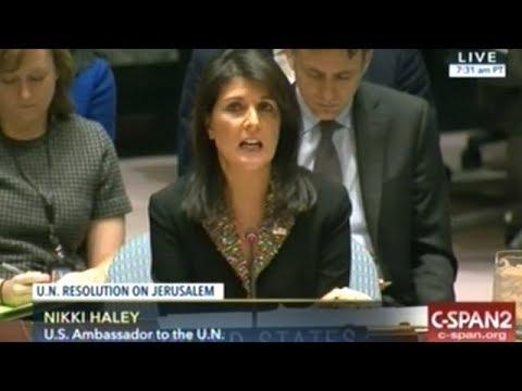 United Nations Security Council Debates Resolution On Jerusalem (DEC 18, 2017) part.1