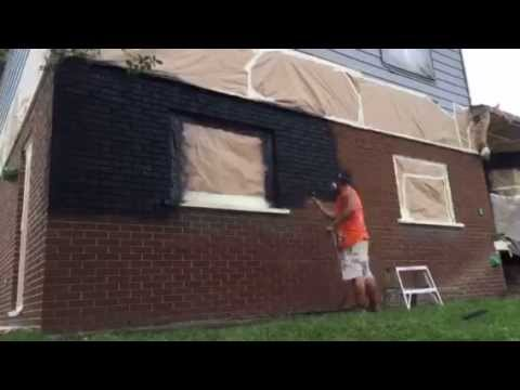 Exterior Brick Stain In Black Youtube