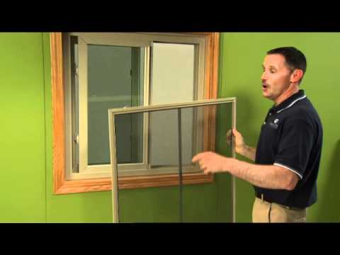How to pop out a window screen