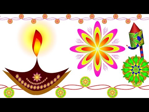 Part 01 Diwali Rangoli, Floral, Crackers, Fireworks, deepak, Lines Art Design in Photoshop (Hindi)