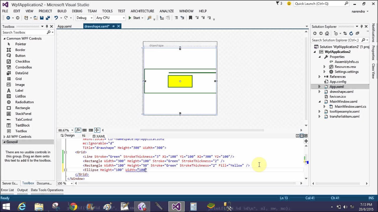 How to design shape in wpf youtube how to design shape in wpf baditri Gallery