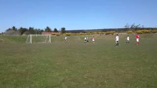 Ryan Kelly scoring for Castletown FC v Foxdale AFC