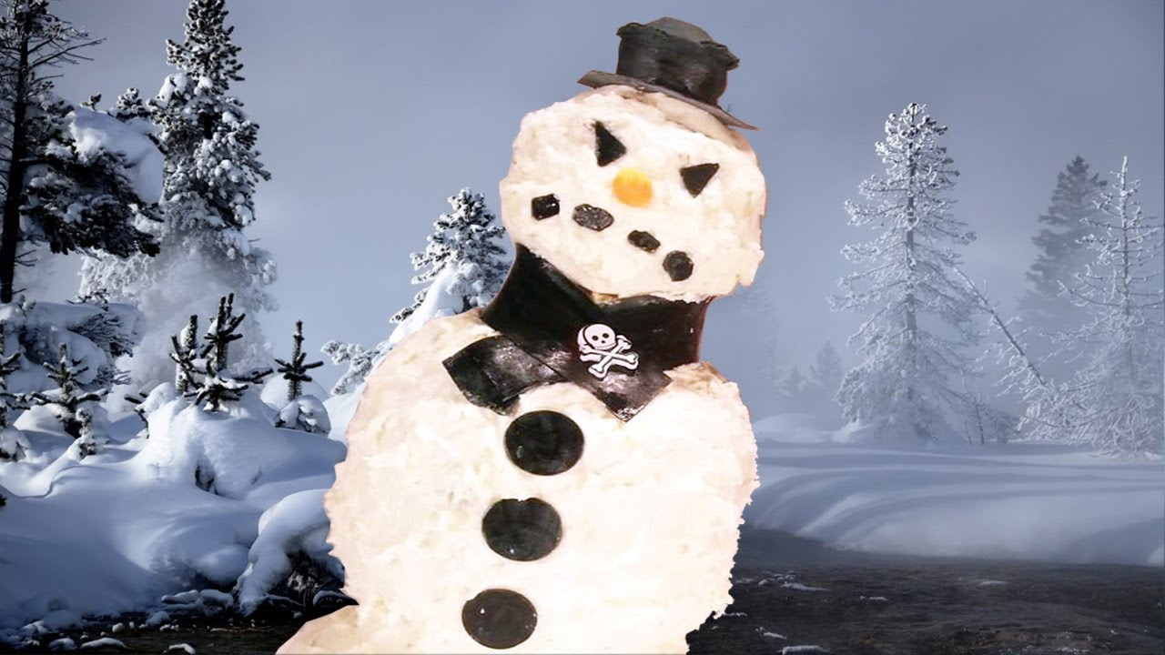 Scary Snowman 3d Cake How To Youtube
