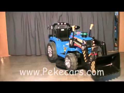 Velocidad Niños Pekecars Doble Con Tractor Electrico 12v 4R5ALq3j