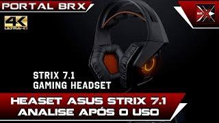 Headset ASUS STRIX 7.1 Real Analise verdadeira após uso!