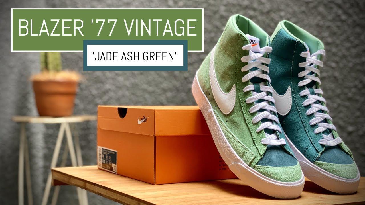 "Nike Blazer Mid 77 Vintage ""Jade Ash Green"" - On Feet & Close Up 360"