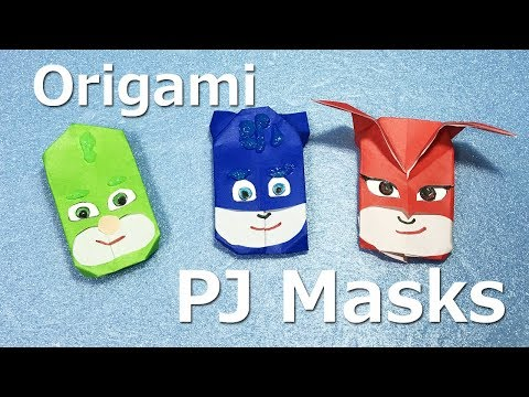"""Origami PJMasks tutorial -Easy- How to make Origami instoructions step by step #28"""""""