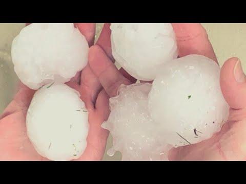 Oversized Hail storm in Valleys City, San Luis Potosi, Mexico - June,2020