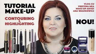 Tutorial Make-Up + Contouring & Highlighting cu produse Oriflame | Liliana Vintur