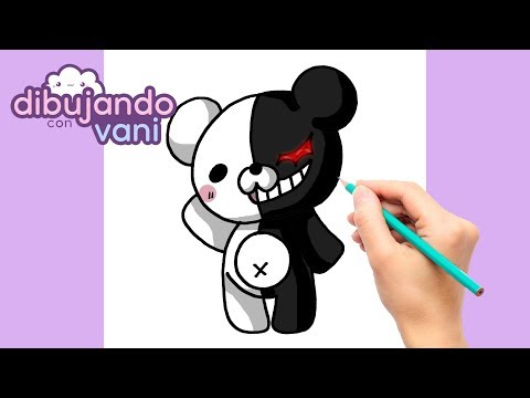 como-dibujar-monokuma-kawaii---dibujos-imagenes-faciles-anime-para-colorear---how-to-draw-monokuma
