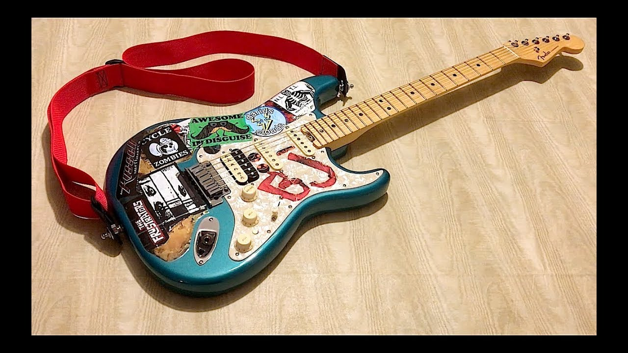 How To Make A Replica Of Billie Joe Armstrong S Blue Guitar In Minutes