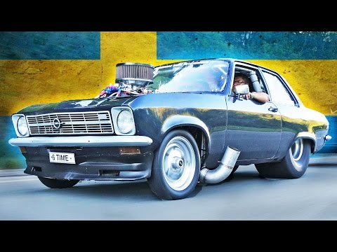 Swedish ULTIMATE Street Car! - NITROUS Opel ASCONA!