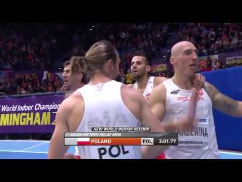 World Record 4x400m Mens Relay Birmingham Indoor World Athletics Championship 2018