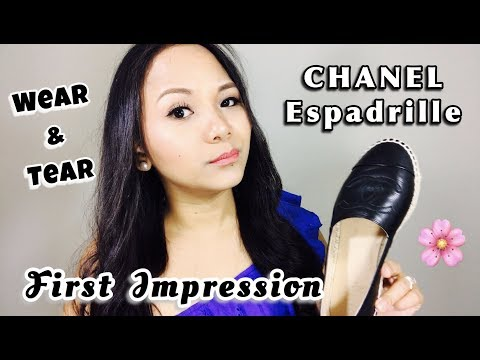 CHANEL Espadrille First Impression + Wear & Tear    Peteygurl