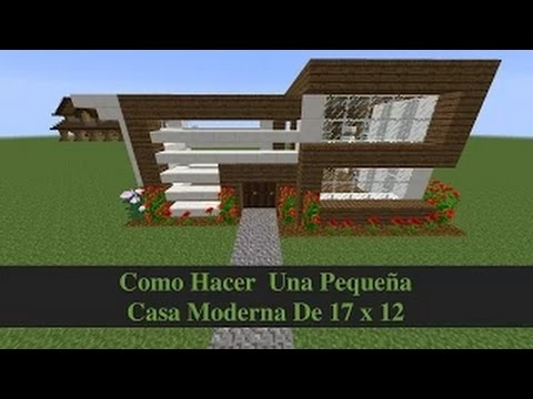 Minecraft como hacer casa peque a pero moderna pt1 youtube for Casa moderna minecraft pe 0 10 4