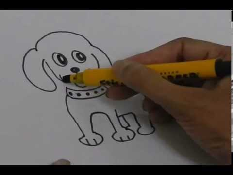 how to draw a puppy for beginners