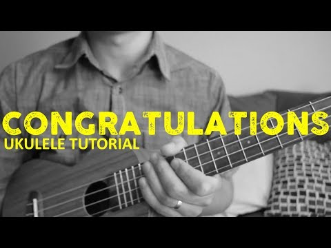 Congratulations - Post Malone EASY Ukulele Tutorial - Chords - How To Play
