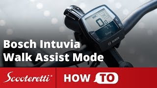 Bosch Intuvia Walk Assist - How To Use The Walk Mode