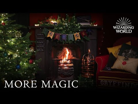Christmas / Holiday Yule Log Fireplace 4K | Wizarding World