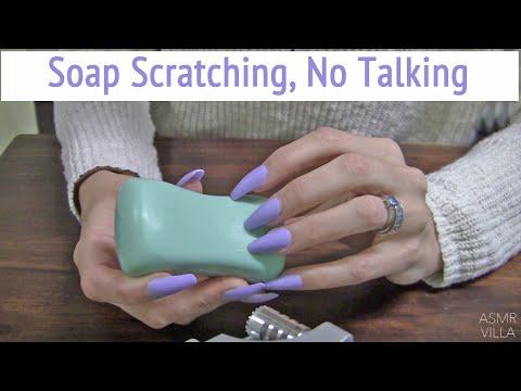 ASMR * Soap Scratching * Long Nails * Fast Tapping & Scratching * No Talking * ASMRVilla