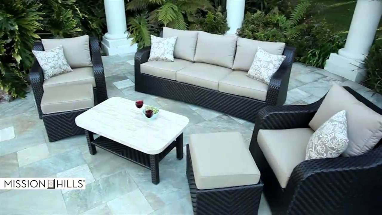 Attractive Valencia 6 Piece Deep Seating Set By Mission Hills   YouTube
