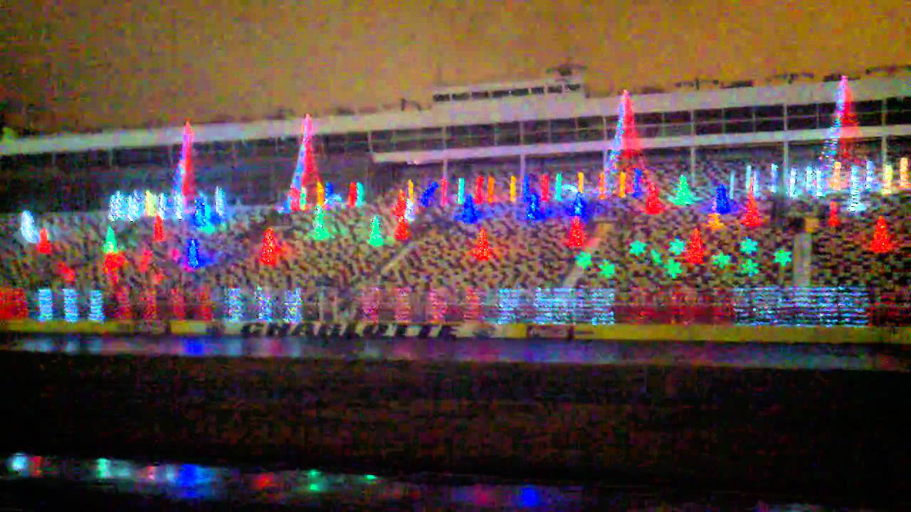 Charlotte motor speedway christmas lights  YouTube