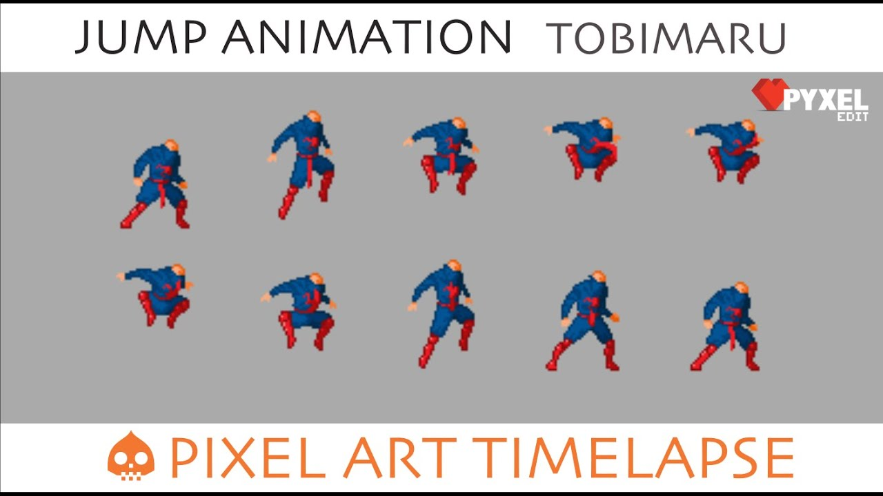 Pixel Art Timelapse Jump Animation Tobimaru The Legend Of Tobimaru