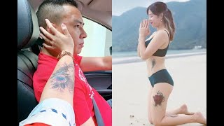 Hoàng Linh, MC Chúng tôi là chiến sĩ khoe hình xăm lớn ở cánh tay, trở thành nữ MC