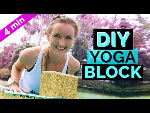 DIY Yoga Blocks With Sierra Schultzzie: How To Make Your Own Gorgeous Glitter Yoga Block Tutorial