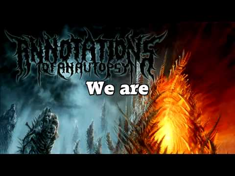 Annotations of an Autopsy - Bone Crown (LYRICS)