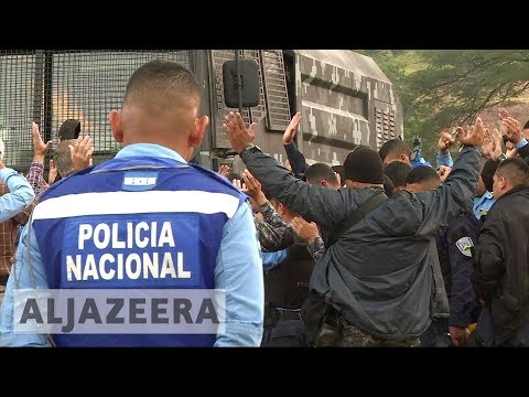 Honduras election: Police refuse to confront protesters