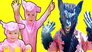 The 3 Little Pigs Story with BIG WOLF + PJ Masks & Paw Patrol Story