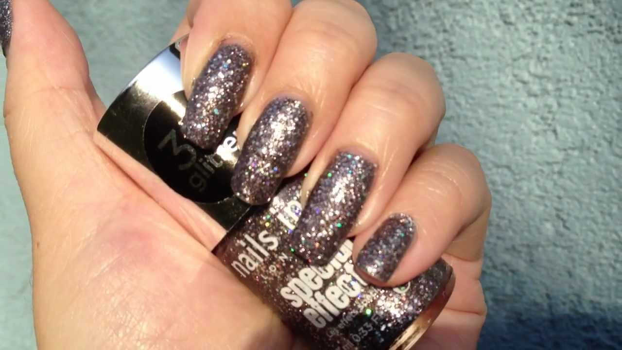 Nails Inc: Sloane Square 3D Glitter - YouTube