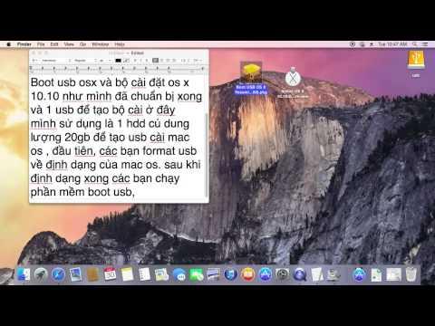 Hướng Dẫn Tạo Usb Cài đặt Mac OS 10.10 DP Trên Laptop, PC [ Phần 1]
