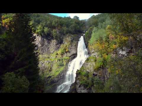 [10 Hours] Norway Waterfall w/ Bird Sounds [1080HD] SlowTV