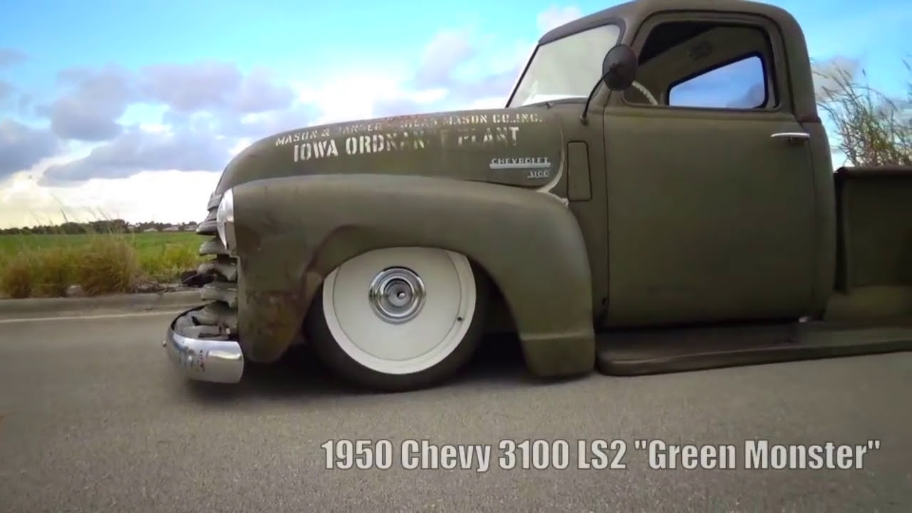 1950 Chevy 3100 Ratrod Patina Bagged Air Ride Ride