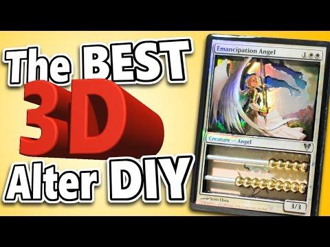 MTG - The BEST DIY 3D Alter Method! Magic: the Gathering Art Tutorial!